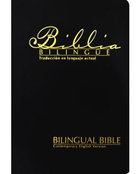 Bíblia Bilíngue | TLA/CEV | Média | Preta | Luxo