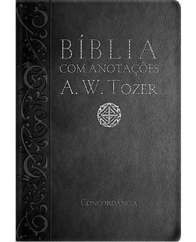Bíblia com Anotações A. W. Tozer | RC | Letra Média | Luxo | Preta