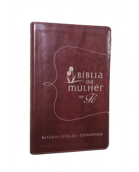 Bíblia da Mulher de Fé | NVI | Letra Normal | Couro Soft | Vermelho