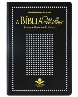 Bíblia da Mulher | RA | Média | Capa Sintética | Preto Nobre