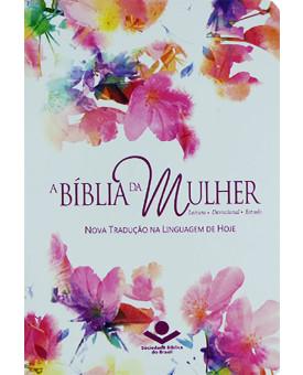 Bíblia da Mulher | NTLH | Letra Normal | Couro Bonded | Aquarela | Índice