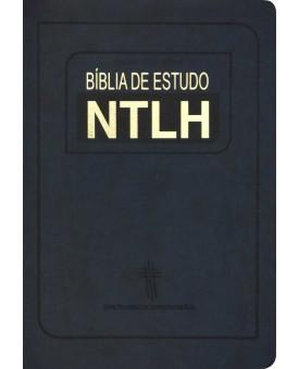 Bíblia de Estudo | NTLH | Media | Luxo | Azul