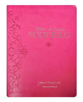 Bíblia de Estudo Scofield | ACF | Letra Normal | Luxo | Cereja