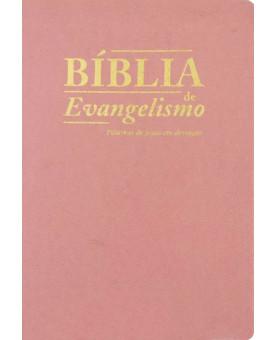 Bíblia de Evangelismo | ACF | Rosa