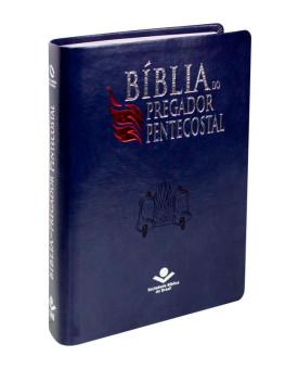 Bíblia do Pregador Pentecostal | NAA | Letra Normal | Capa Sintética | Azul Nobre | índice