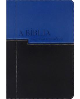 Bíblia Cronológica | NVI | Luxo | Azul Claro e Escuro