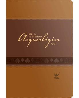 Bíblia de Estudo Arqueológica NVI | Marrom | Luxo C/Índice