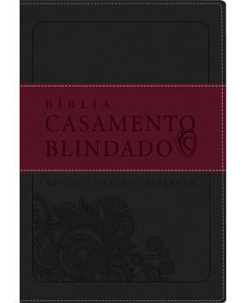 Bíblia de Estudo Casamento Blindado | Cinza/Vermelha
