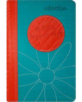 Bíblia Da Garota De Fé | Laranja/Turquesa