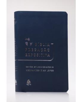 Bíblia Pregação Expositiva | RA | Letra Normal | Luxo | Azul Escuro
