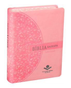 Bíblia Sagrada | RA | Letra Grande | Luxo | Rosa