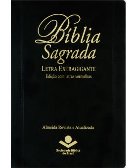 Bíblia Almeida Atualizada | Letra Extragigante | Edição com Letras Vermelhas | Luxo | Preta