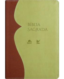 Bíblia Sagrada | NVI | Letra Normal | Luxo | Caramelo e Bege