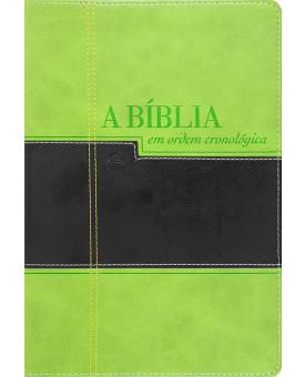 A Bíblia Cronológica | Luxo | Verde/Preta
