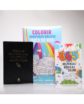 Kit Bíblia De Recursos Para O Ministério Com Crianças Preta + 2 Livros Grátis