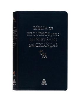 Bíblia De Recursos Para O Ministério Com Crianças | RA | Letra Normal | Luxo | Azul Petróleo