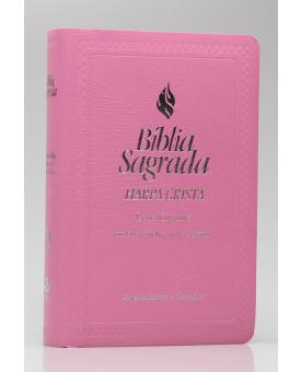 Bíblia Sagrada | RC | Harpa Cristã | Letra Gigante | Luxo | Rosa