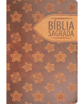 Bíblia Sagrada Floral Marrom | RC | Letra Gigante