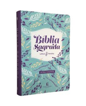 Bíblia Sagrada | NVI | Letra Gigante | Couro Soft | Flores | Leitura Perfeita