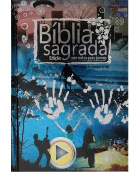 Bíblia Edição Para Jovens - Nova Tradução Na Linguagem de Hoje - Capa Dura - Metálica - Azul