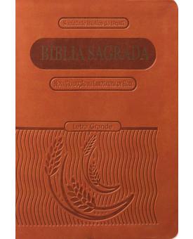 Bíblia Sagrada | Compacta | Marrom | Luxo