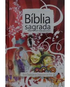 Bíblia Edição | Para Jovens | NTLH | Capa Dura | Vermelha | Metálica