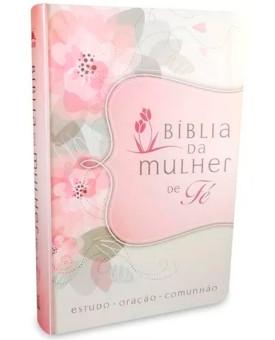 Bíblia Mulher de Fé | NVI | Letra Normal | Luxo | Flores