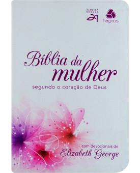 Bíblia Da Mulher | S21 | Letra Normal | Luxo | Lírios