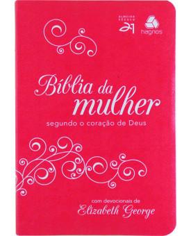 Bíblia Da Mulher | Segundo O Coração De Deus | Almeida Século 21 | Luxo | Pink/Branco
