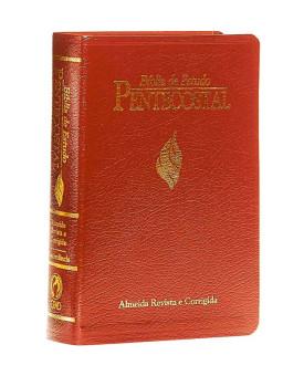 Bíblia de Estudo Pentecostal | RC | Letra Média | Luxo | Vinho