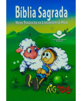 Bíblia Sagrada | NTLH | Média | Brochura | Mig e Meg | Masculina