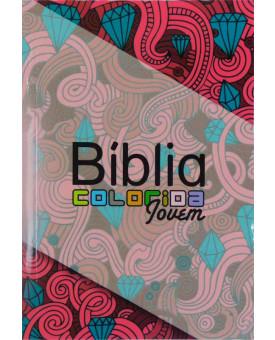 Bíblia Almeida Colorida Jovem | Letra Normal | Brochura | Feminina