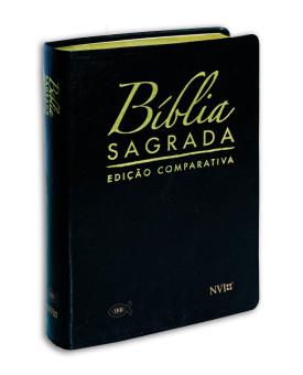 Bíblia Sagrada Comparativa | Letra Grande | RC/NVI | Luxo Preto