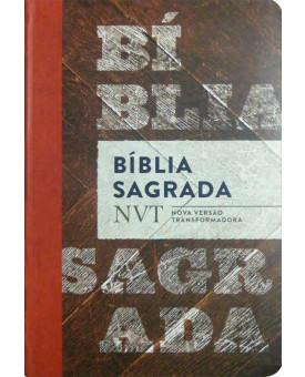 Bíblia Sagrada | NVT | Letra Normal | Flexível | Madeira