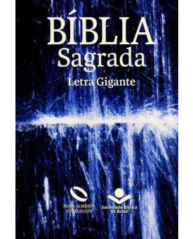 Bíblia Sagrada   NAA   Letra Gigante   Semi-Flexível   Água