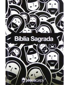 Bíblia Sagrada | Jesus Copy | Preto e Branco | NVT | Capa Dura