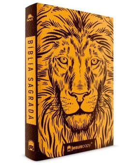 Bíblia Sagrada | Leão | Luxo | NVI | Dourado