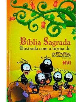 Bíblia Sagrada   NVI   Média   Ilustrada com a Turma do Smilingüido   Capa dura   Turma