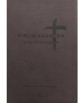 Bíblia Sagrada | NVI | Letra Extragigante | Luxo | Marrom