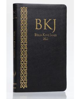 Bíblia Sagrada | King James Fiel 1611 | Letra Média | Covertex | Preta | Ultra Fina