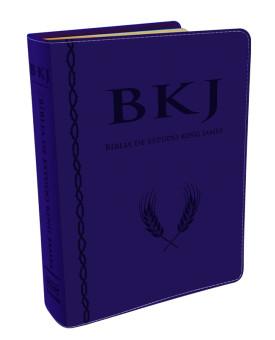 Bíblia de Estudo | King James | Estudo Holman | Capa PU | Azul