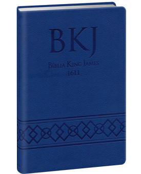 Bíblia Sagrada | King James Fiel 1611 | Letra Média | Luxo | Azul | Ultra Fina