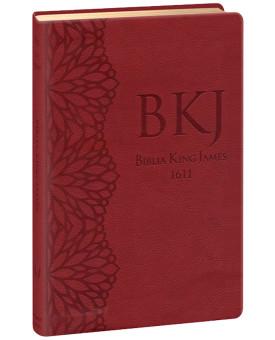 Bíblia Sagrada | King James Fiel 1611 | Letra Média | Luxo | Vinho | Ultra Fina