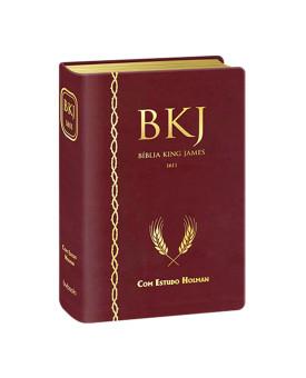 Bíblia Sagrada | King James 1611 | Letra Normal | Capa PU | Vinho