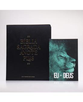 Kit Bíblia Anote Plus RC Black Edition + Devocional Eu e Deus Leão Azul | Pai Para Todos