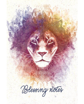 Blessing Notes | Leão | Aquarela | Rosa