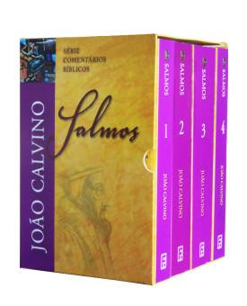 Box do Livro Salmos | Série Comentários Bíblicos | 4 Volumes | João Calvino