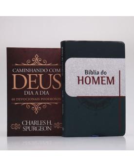Kit Bíblia do Homem Bússola + Devocional Spurgeon Clássica | Homem Sábio