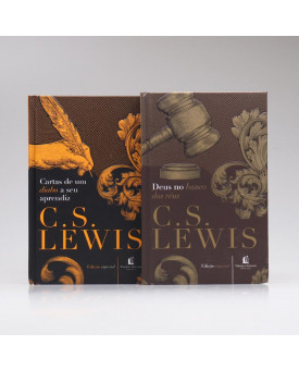 Kit 2 Livros | Cartas de um Diabo a Seu Aprendiz + Deus no Banco dos Réus  | C. S. Lewis