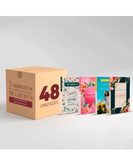 Caixa com 48 Devocionais | 3 Minutos de Sabedoria Para Mulheres